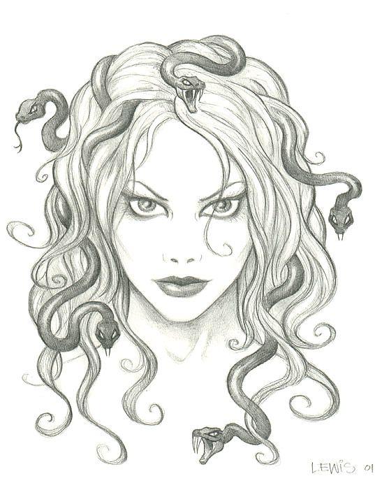 feminine medusa drawing | Medusa | Pinterest | A start ...