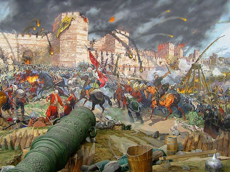 """""""The final assault and the fall of Constantinople ( Panorama 1453 Historical Museum, Istanbul)"""""""