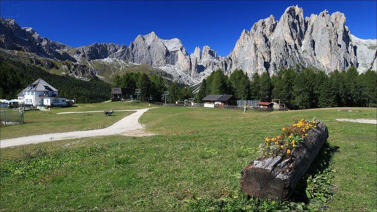 Ciampedie con Catinaccio d'Antermoia - Vigo di Fassa - TR - Trentino Alto Adige - Italy