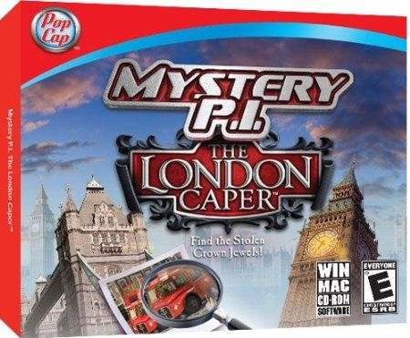 http://softwarebastion.com/childrens-software/mystery-pi-the-london-caper-com/  Track down the England's Royal Crown Jewels in Mystery P.I. The London Caper, a captivating new chapter from the hit hidden object investigative series.