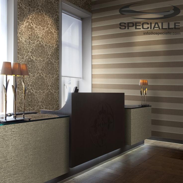 #Tapiz #Textil. #Seda lisa, con diseño de Rayas o con Damascos. #Arquitectura #Decoracion #Interiorismo #Casa #Hogar #Ideas #InteriorDesign #HomeDecor #Wallpaper #Architecture #Design #Specialle