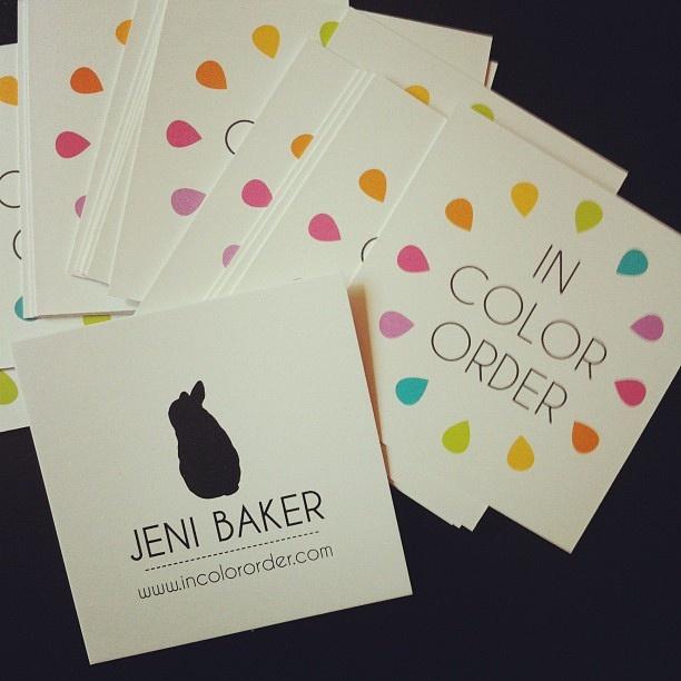 Business Cards by Jeni Baker, via Flickr