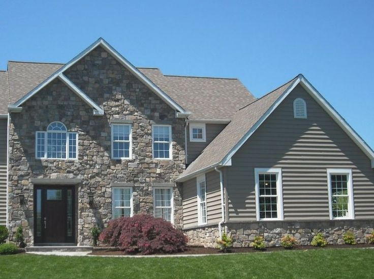 Thin stone siding natural stone veneer project photos - How to install exterior stone veneer ...