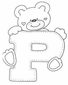letra p dibujos de letras del abecedario para colorear