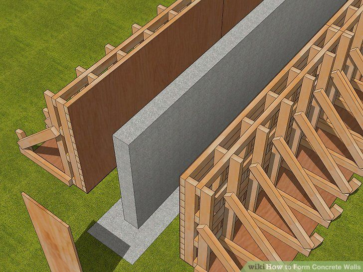 How To Form Concrete Walls With Pictures In 2020 Concrete Retaining Walls Concrete Wall Concrete