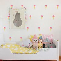 Cartoon Little ice cream Wall Stickers Wall Decals, Removable Child Room decoration art Wall Decors Free Shipping DQ621-28