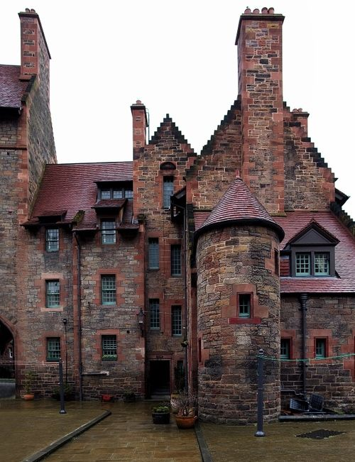 Well Court, Dean Village, Edinburgh, Scotland by Pieter Bos
