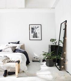La petite fabrique de rêves: Ethnic style : une jolie chambre blanche et noire