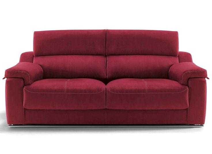 Sofá moderno de 3+2 plazas y con chaise-longue, modelo Monza fabricado en España por Divani Star en Sofassinfin.es