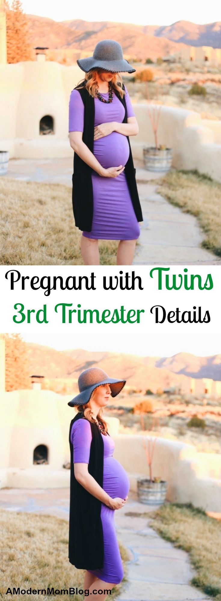 Pregnant with twins belly pregnancy week by week third trimester