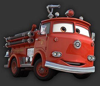 Pensa a dov'è che ha già visto un camion dei pompieri simile a quello.