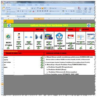 Download File Aplikasi Penilaian Kurikulum 2013 Revisi Terbaru 2016