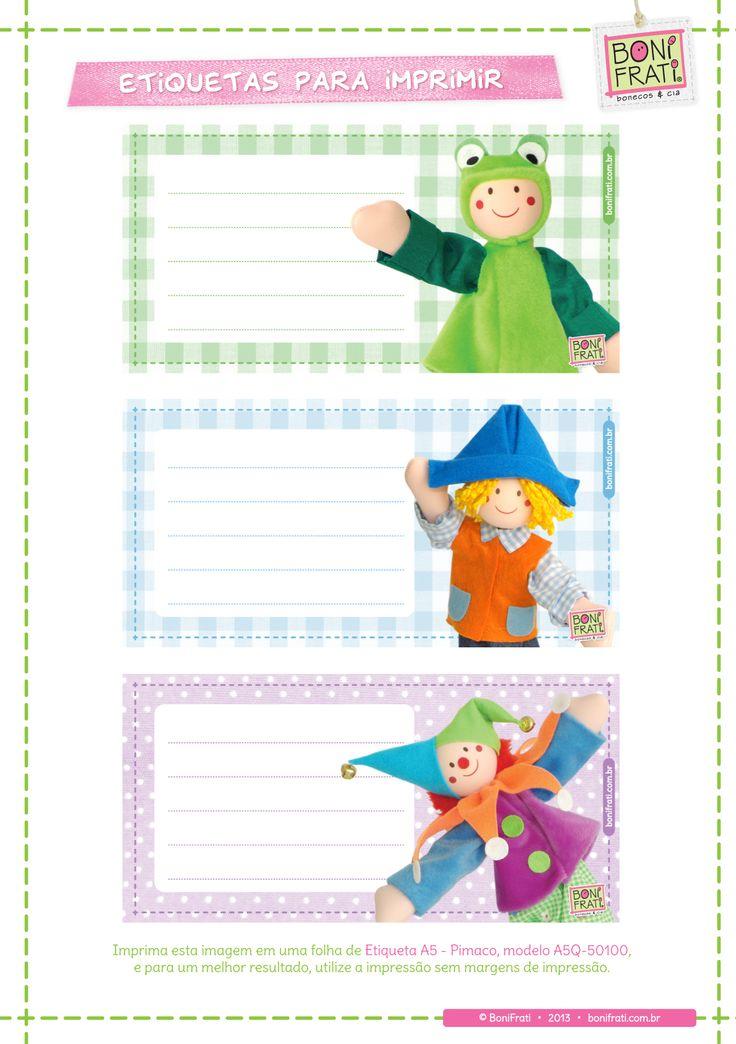 Blog BoniFrati: Etiquetas de útiles escolares para impresión