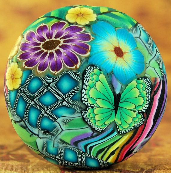 Polymer Clay Smooth Circle Focal Bead
