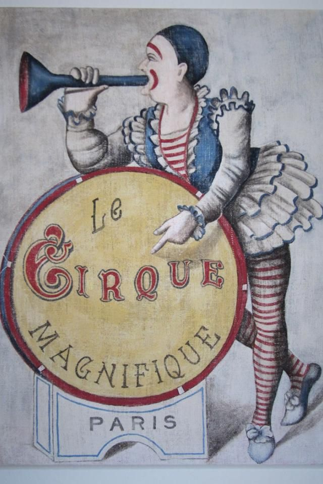vintage french circus