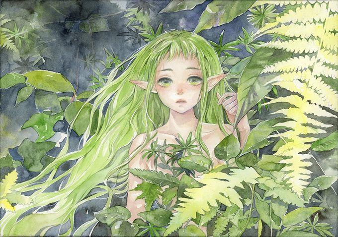 Do you believe in elves? TOM Special Creator Izmi Toyoda drew this elf hidden in the forest.