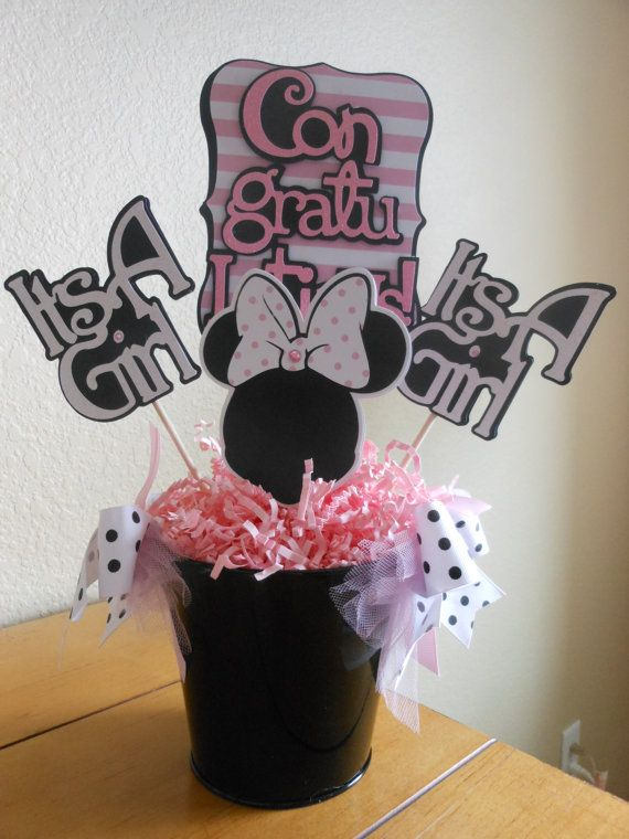 1000 images about minnie mouse baby shower theme on for Baby minnie mouse decoration ideas