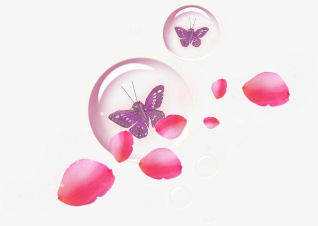 Petals And Butterfly Butterfly Clip Art Petals Red Petals