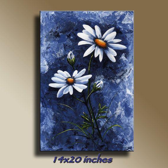 Canvas Print of Original acrylic painting Blue by EditVorosArt, $120.00