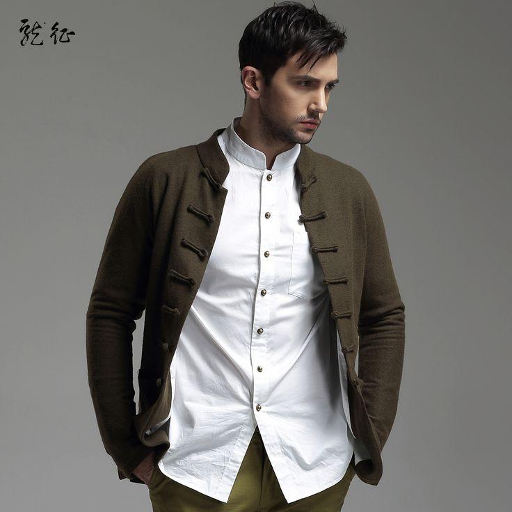 Cloth chinese tang jacket for men dark green chinese jackets men