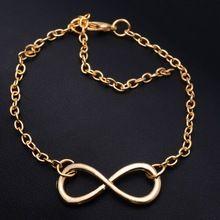 3 цвет браслеты mujer новинка популярные золото / серебристый / черный крест бесконечность цепи браслеты и браслеты украшения для женщин(China (Mainland))