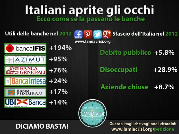 Gli utili delle banche, e quelli dell'Italia