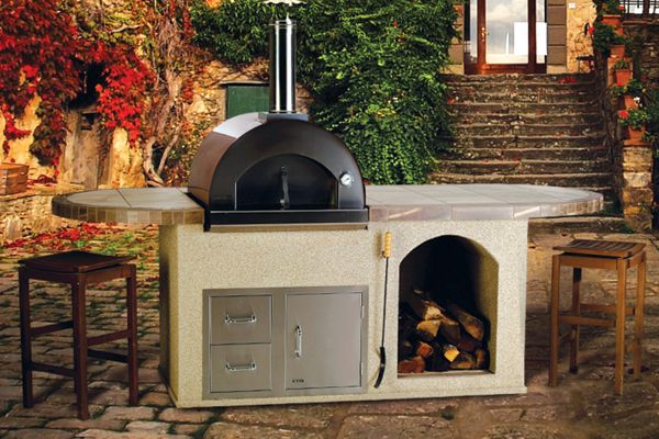 Pizza Q Outdoor Island Kitchen