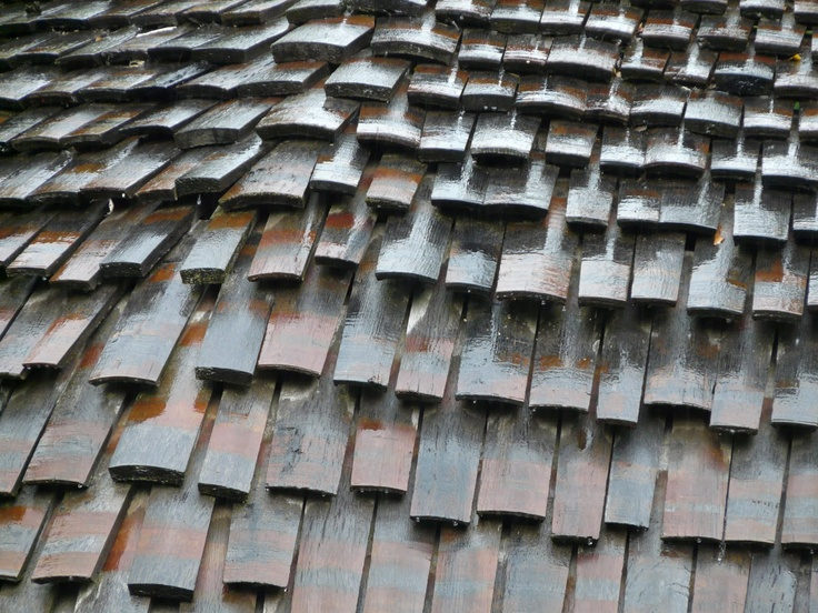 Timber shingles as roofing and cladding sustainable materials patternbook pinterest for Sustainable exterior cladding materials
