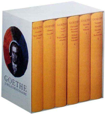 Werke, 6 Bde., Jubiläumsausgabe: Amazon.de: Johann W. von Goethe: Bücher