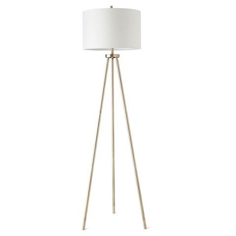Tripod Floor Lamp - Antique Brass (Includes CFL Bulb) - Threshold™