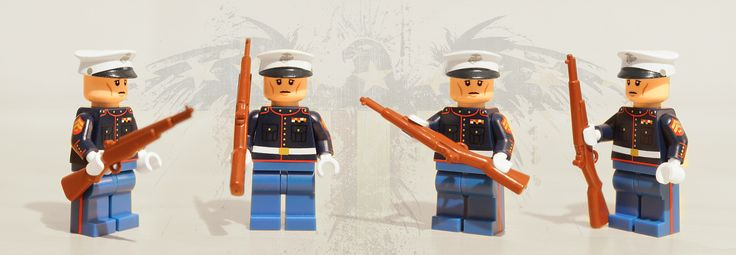 https://flic.kr/p/hJypF9 | USMC Dress Blues | Limited Edition Premium Printed Minifig (Wounded Warriors Project) from Citizen Brick