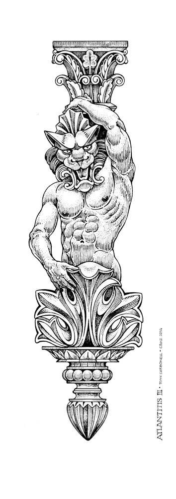 AtlanTitis III, #Dibujos e #Ilustraciones #Illustrations de Tony Carbonell #Cadiz