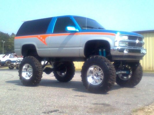 1999 lifted tahoe | trade both of mine for a 2000 and up 7.3 diesel truck xtra cab or ...