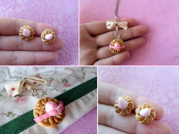 Material : polymer clay  Traditional greek easter bread earrings, made with love and detail!  The charm is 100% handmade by me, sculpted using