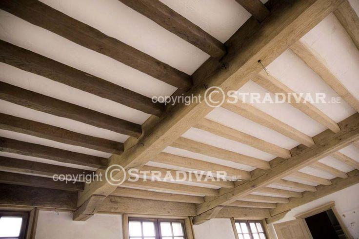 zandstralen hout eik balken plafond