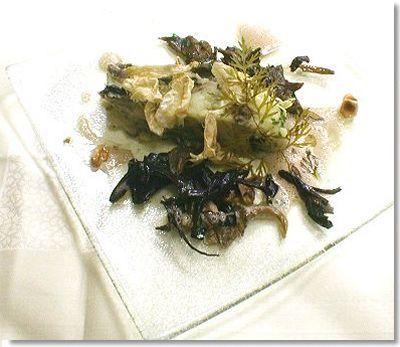 Accumulation de pommes de terre rattes Arman aux huîtres de Belon