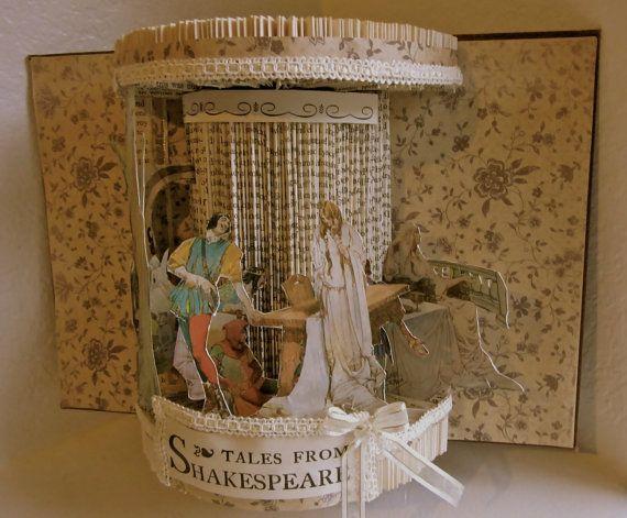 Altered Book  Antique Shakespeare Stories by Raidersofthelostart, $300.00