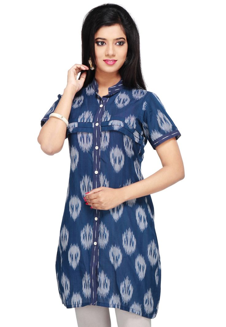 New designs of ikat tunic dress, ikat cotton dresses, ikat dress material and ikat dress fabric online shopping for more info www.uppada.com