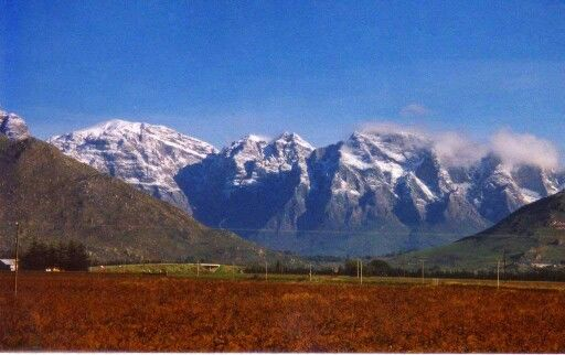 Slanghoek mountain  Breede river valley