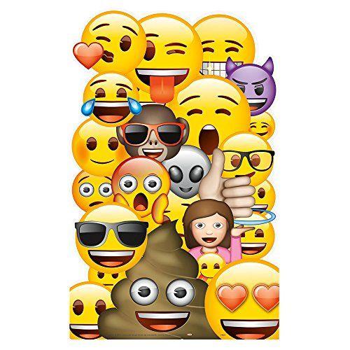 Large Emoji Cardboard Standing Cutout Decoration