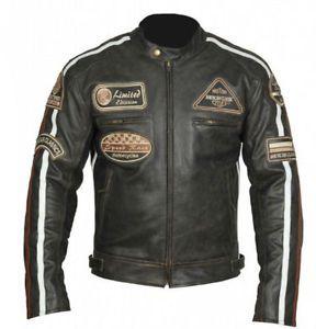 estado del producto nuevo con etiquetas para hombres cuero chaqueta de moto chaqueta de moto chopper chaqueta harle