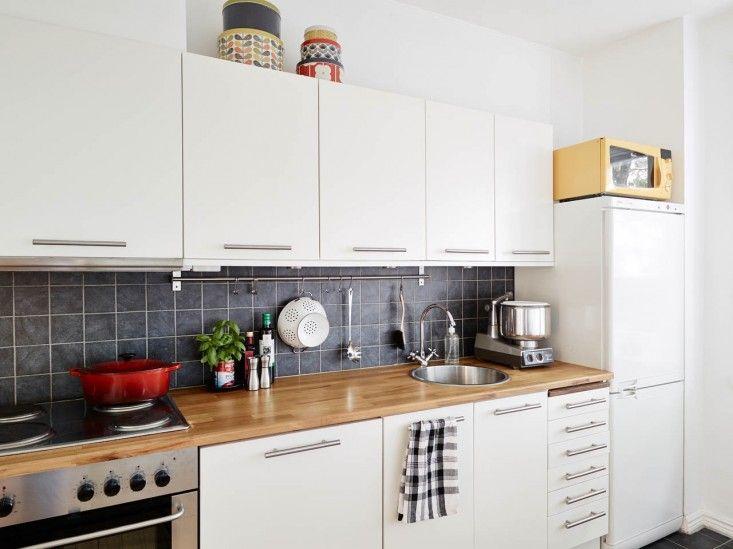 Ultimate Budget Storage: 10 Kitchens With Ikeau0027s Grundtal Rail System    Remodelista