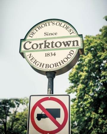 Travel guide to Corktown neighborhood of Detroit