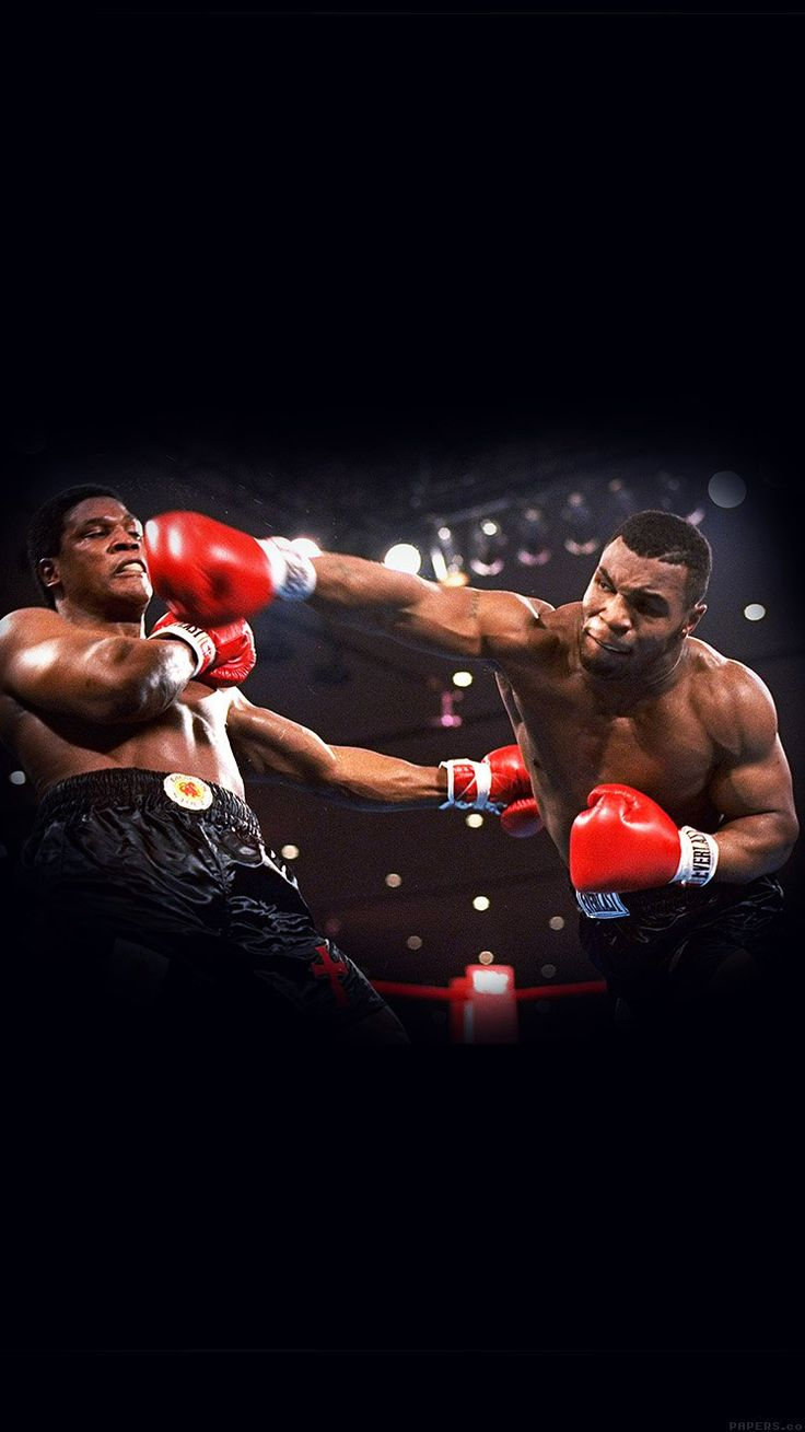 THIS IS BOXING MIKE TYSON SPORTS DARK WALLPAPER HD IPHONE