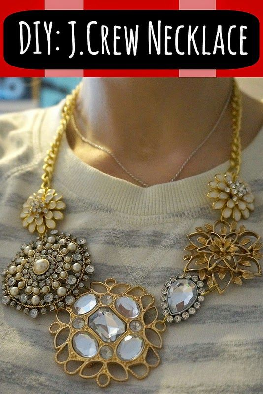 DIY J. Crew Necklace . . . learn how to make a statement necklace!