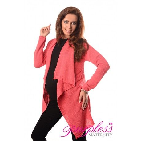2in1 Maternity and Nursing Cascade Open Front Cardigan 9003 Coral  Every maternity wardrobe needs a cardigan. Our 2in1 maternity and nursing long sleeve cascade open front cardigan will add a level of comfort when you feel the need to wrap up.