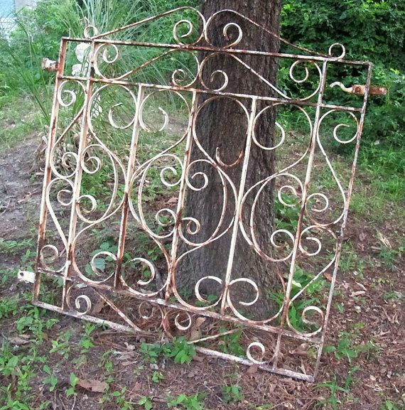Vintage Wrought Iron Garden Gate Patio Lawn by VintageQuiltShop, $119.99