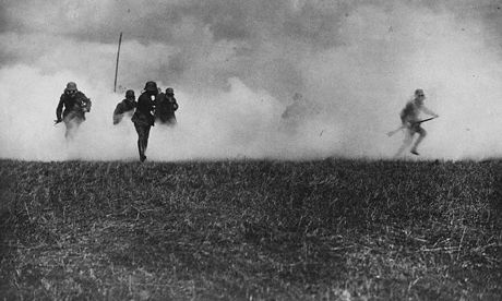 poison gas was used to clear men out of trenches and to help break stalemates. it was found to be very effective in doing its job as shown in the picture.
