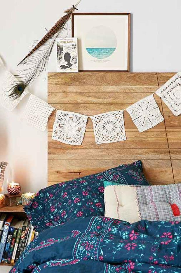 Plum & Bow Lace Doily Banner-