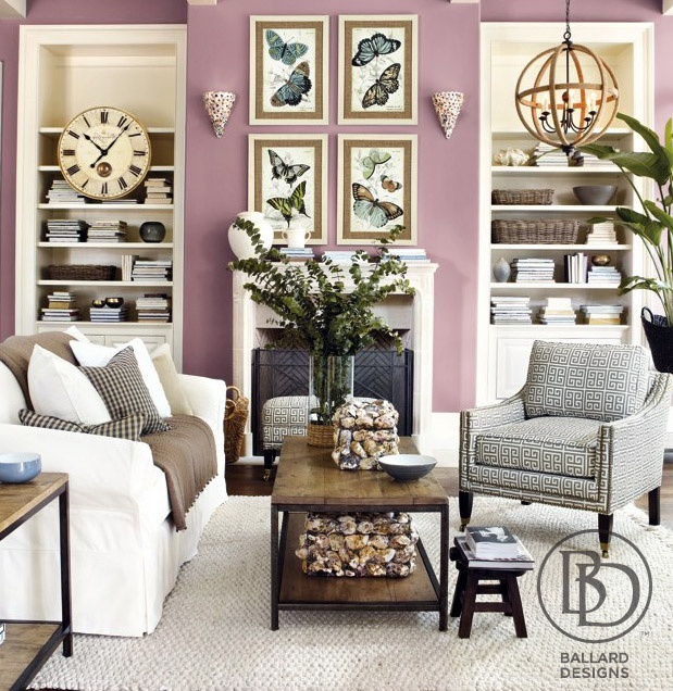 Purple Living Room Walls Purple Pinterest Living